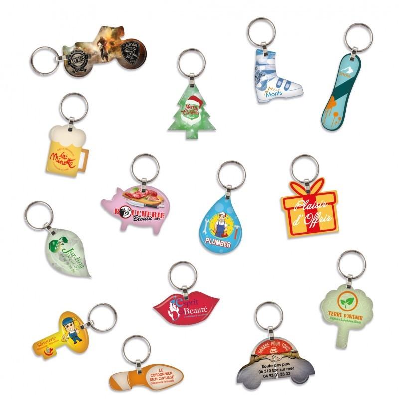 Porte-clés doming à la forme 15cm²