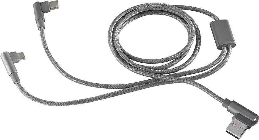 Câble coudé 3-en-1
