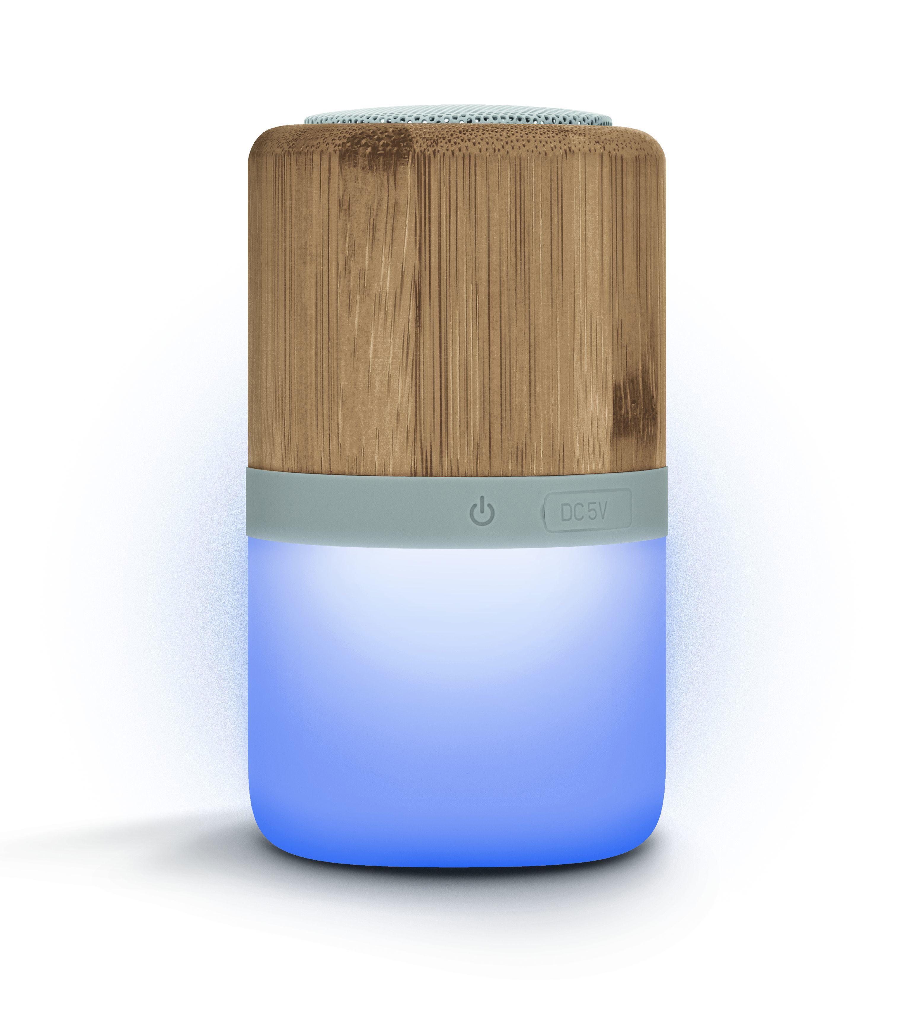 Enceinte BT5.0 sans fil et lampe bambou