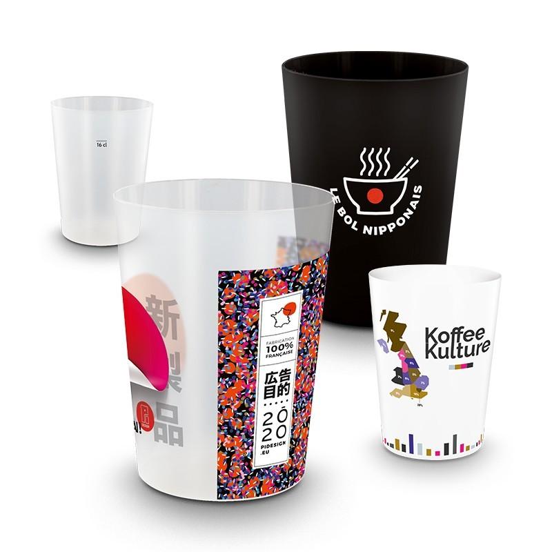 Gobelet plastique reutilisable 22cl