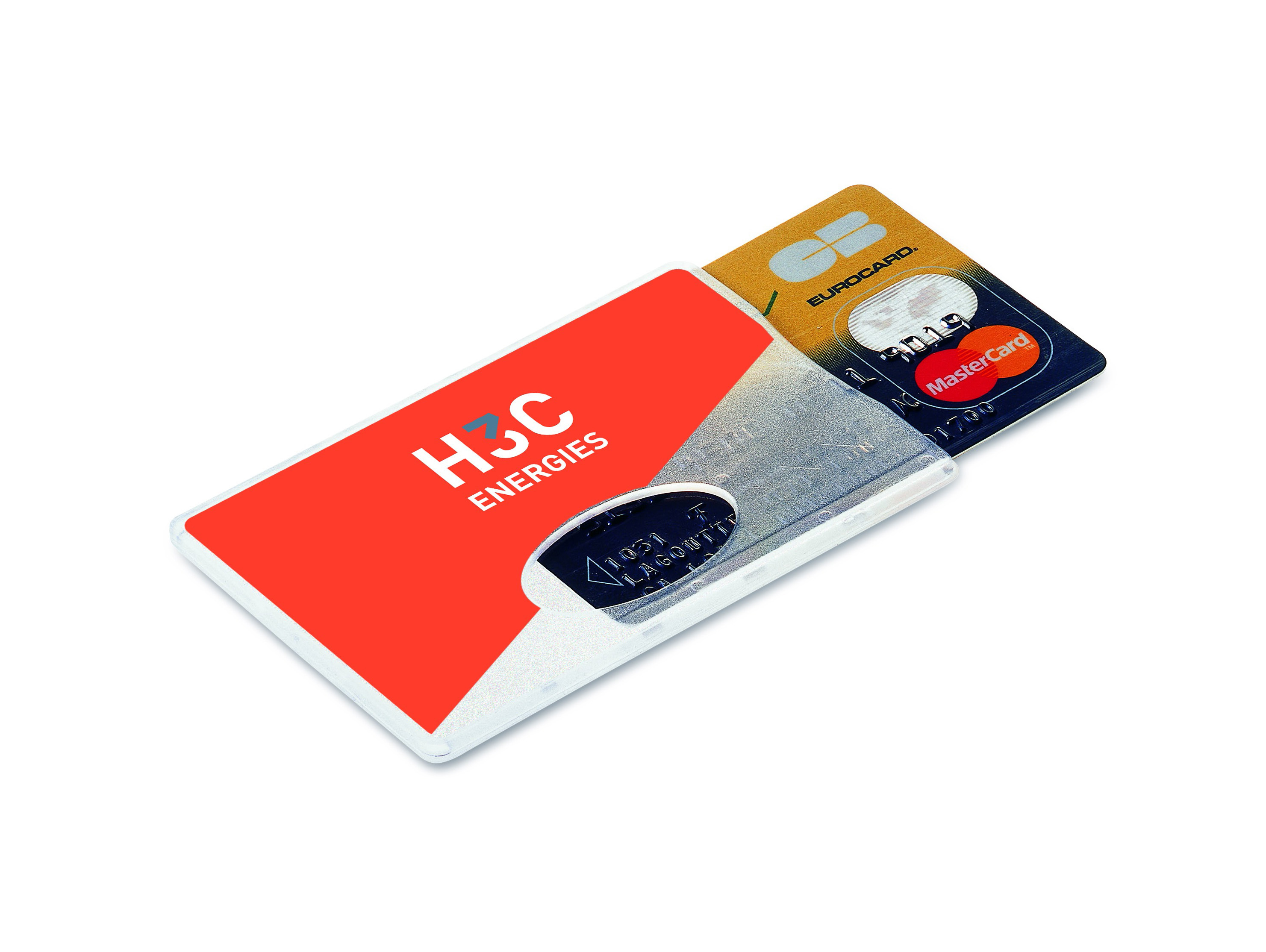 Protège carte de crédit transparent
