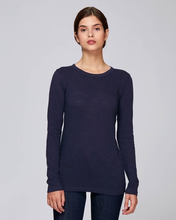 Tee-shirt manches longues fil flammé femme