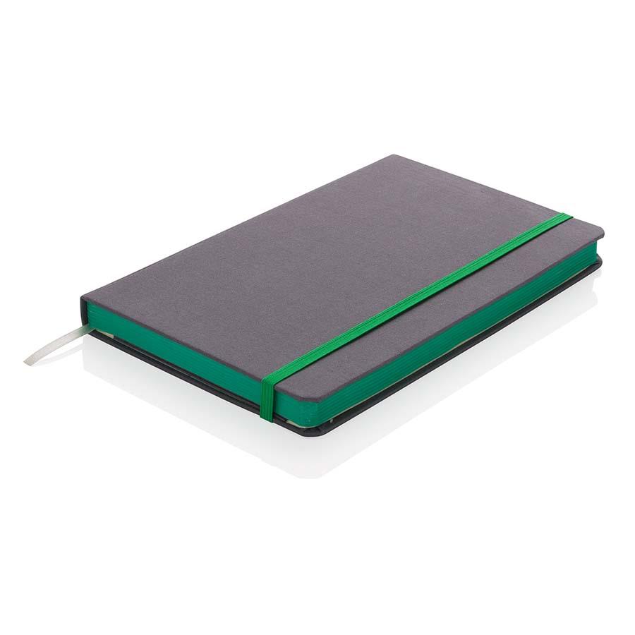Carnet de notes A5 tissu avec bord coloré