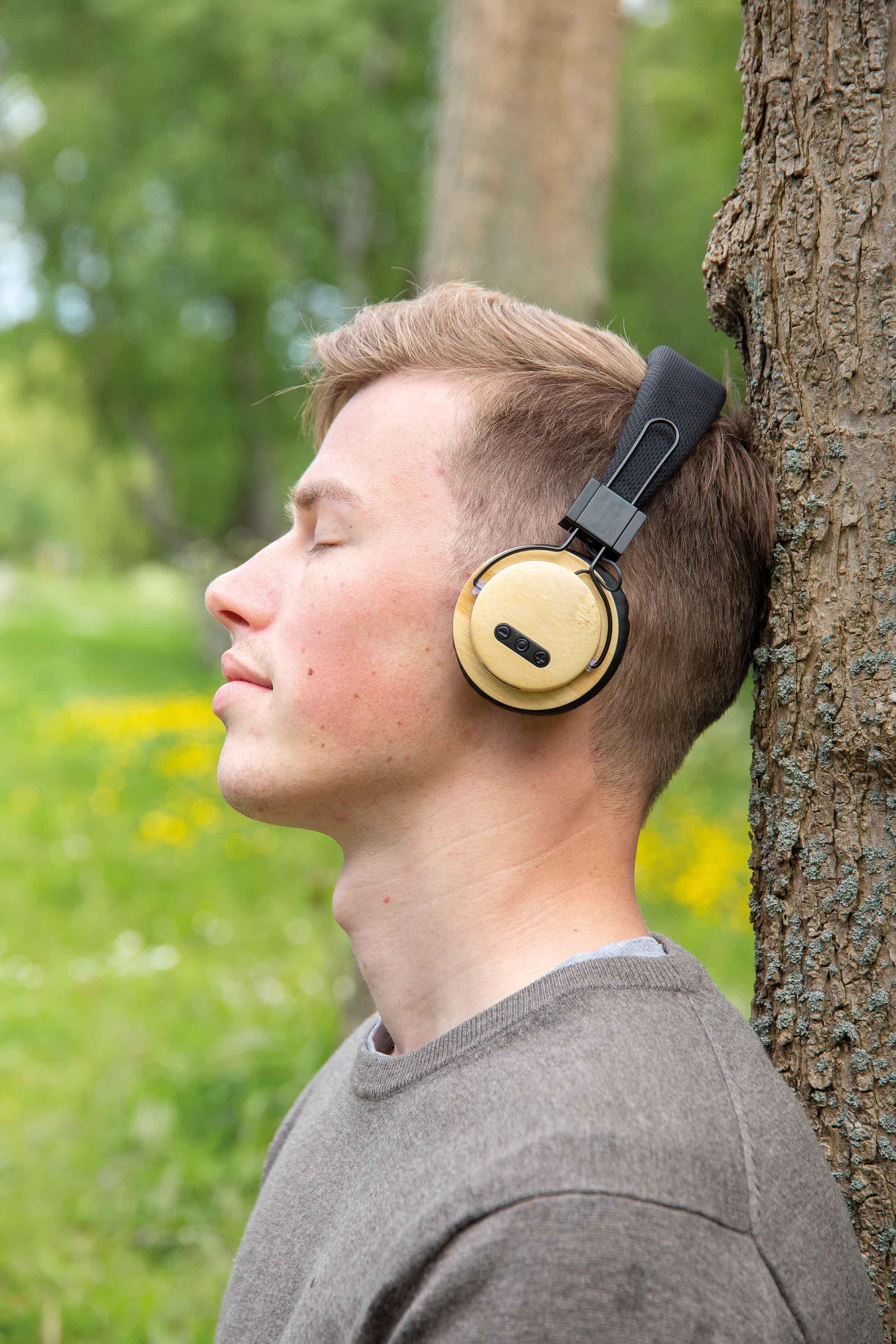 Casque audio sans fil en bambou - 9-1859-4