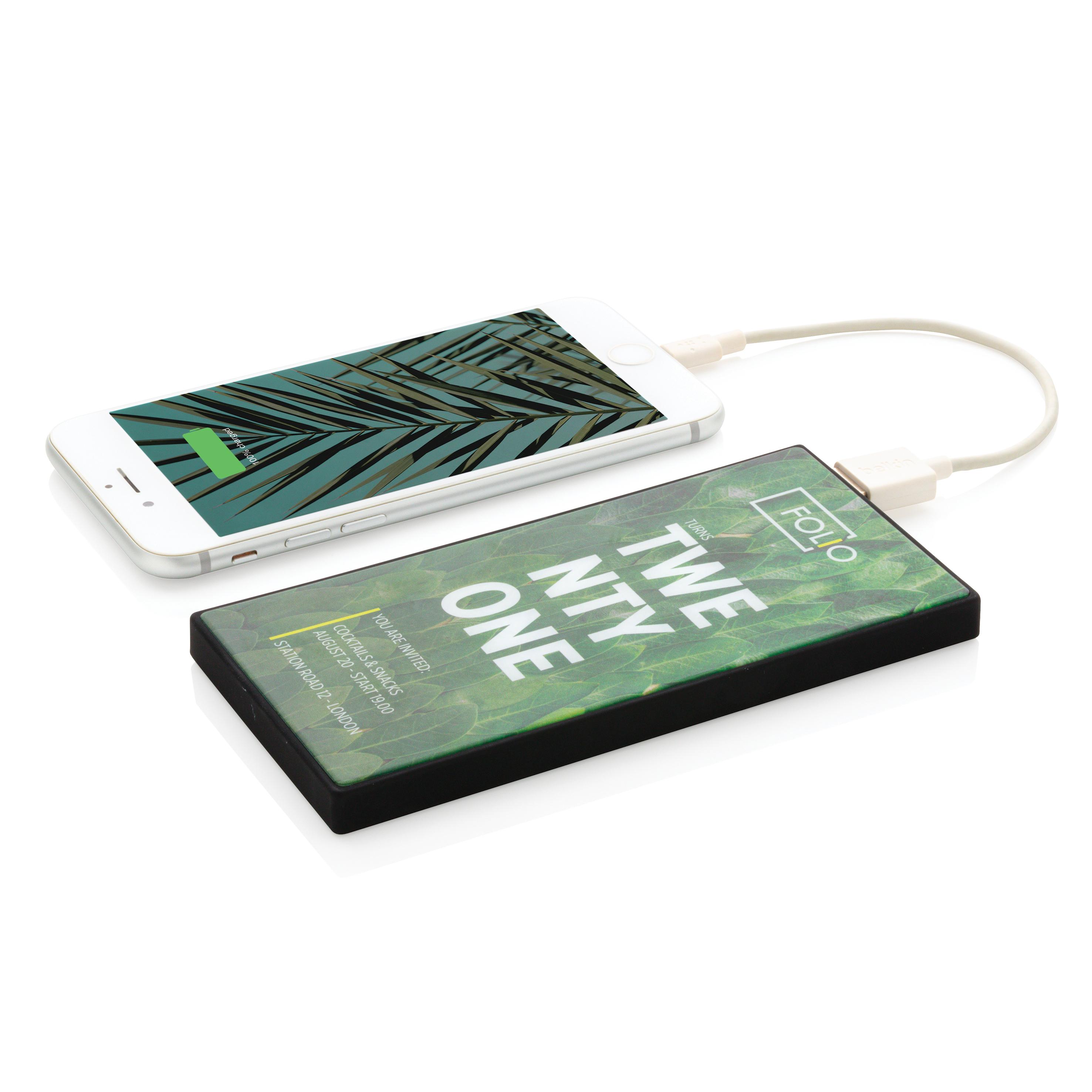 Batterie portable 5000 mAh avec verre trempé personnalisable