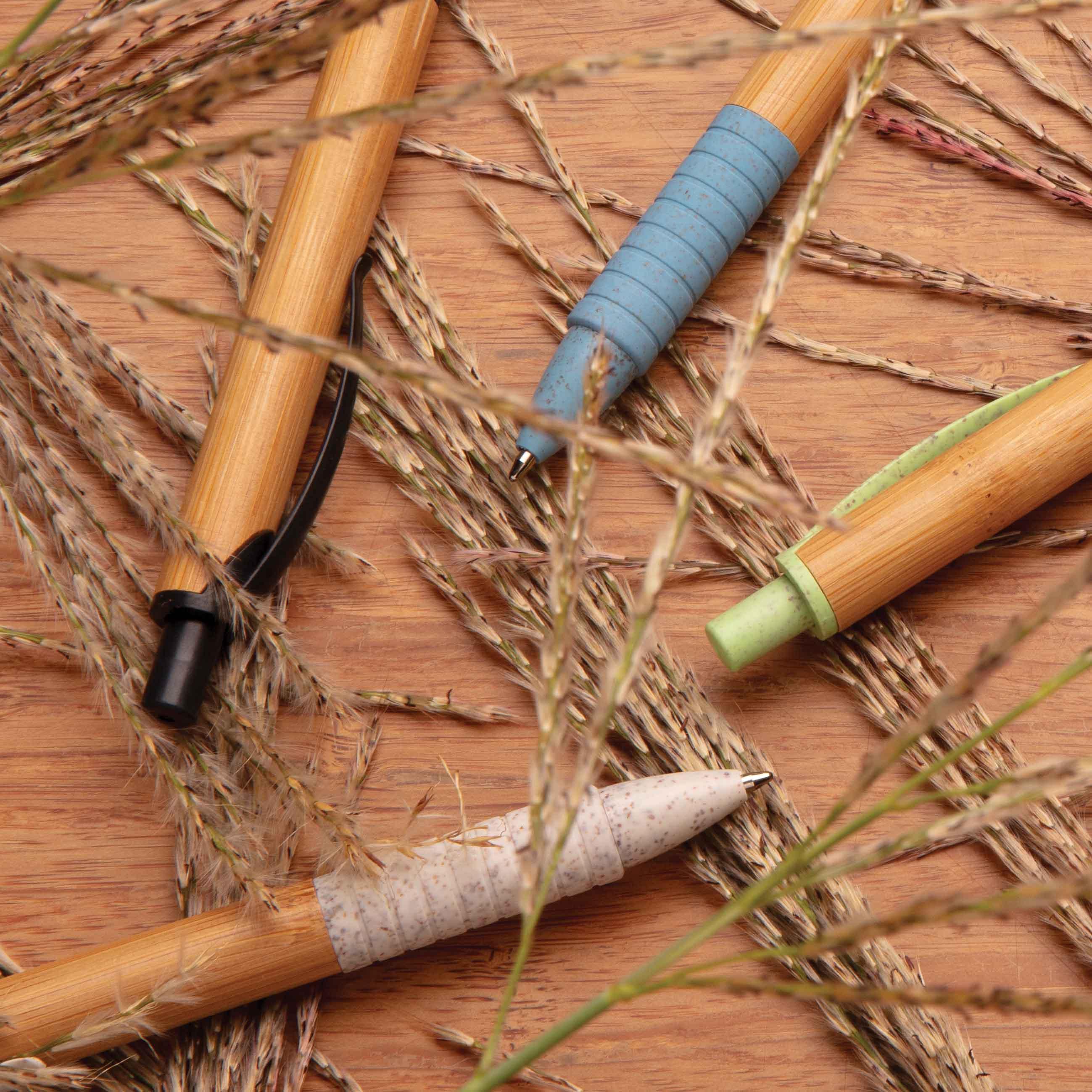 Stylo en bambou et fibre de paille