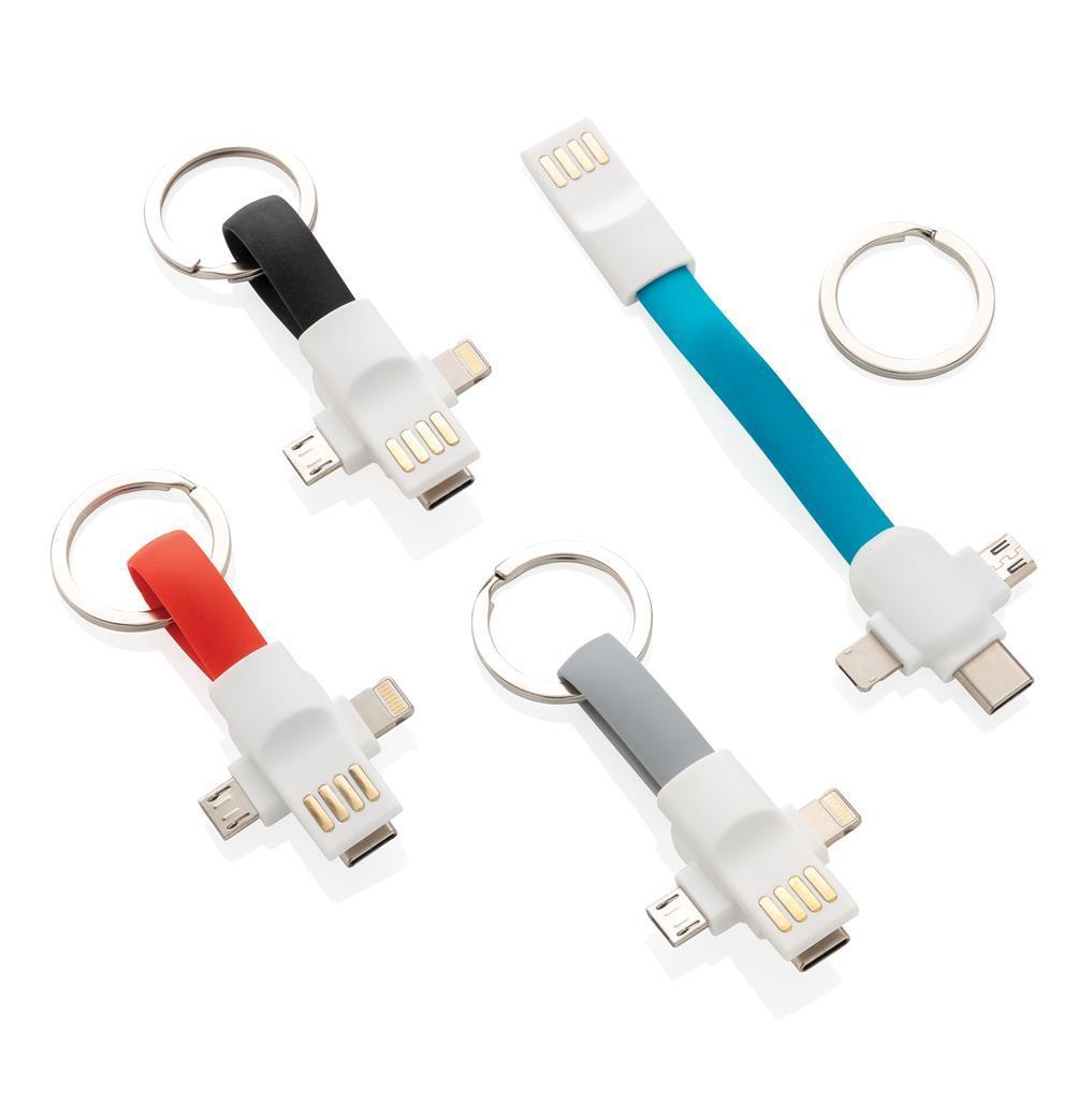 Portes-clés câble 3-en-1