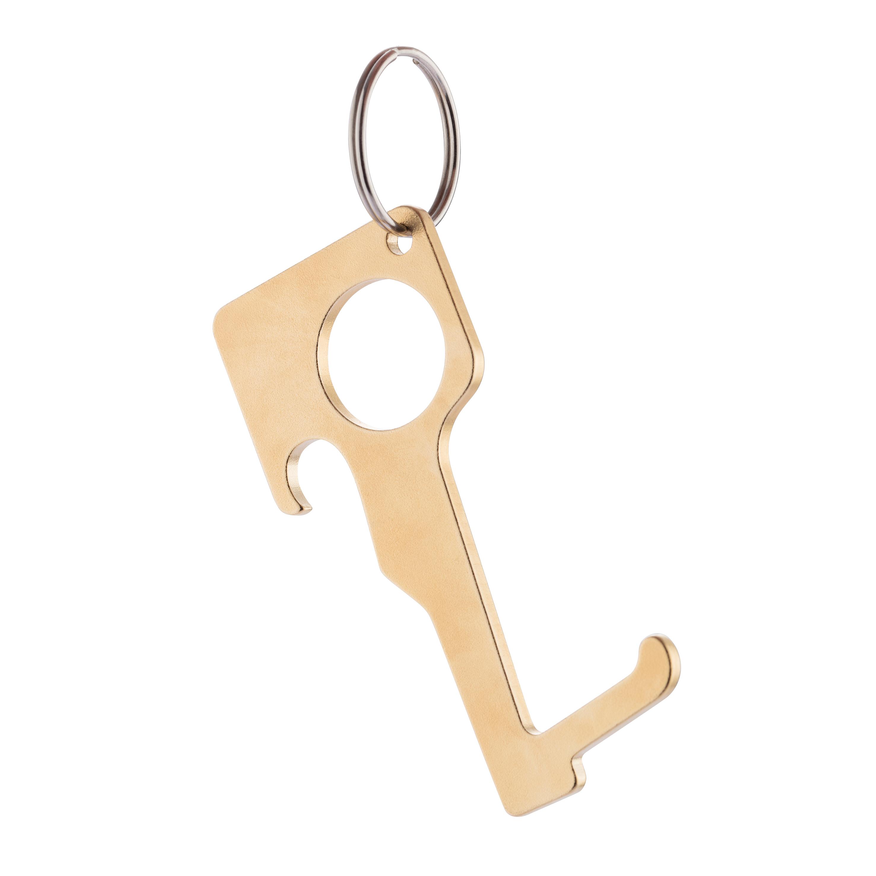 Porte-clés en laiton hygiénique à contact zéro