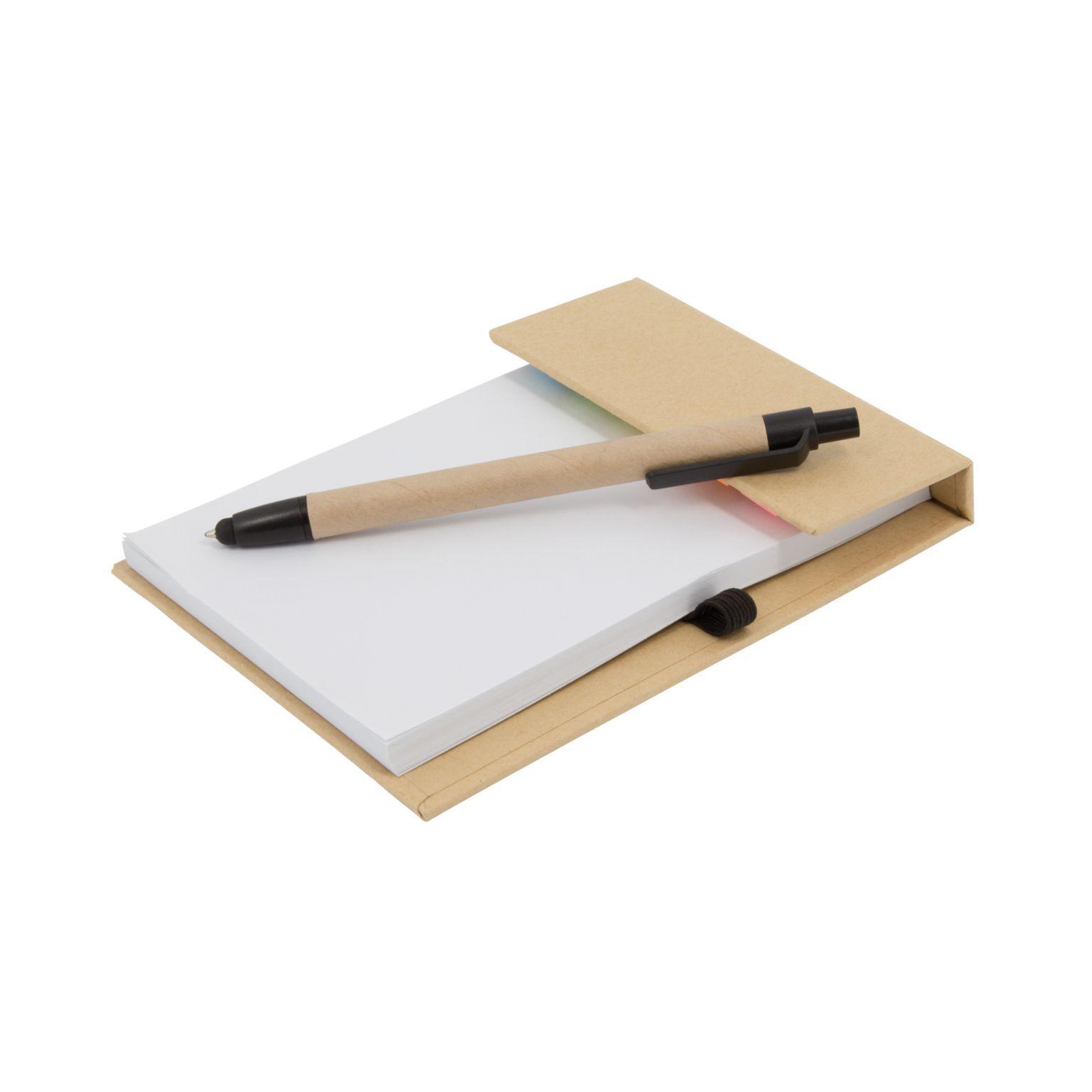 Carnet feuilles + marque-pages adhésifs et stylo bille - Y1806-001-id1023