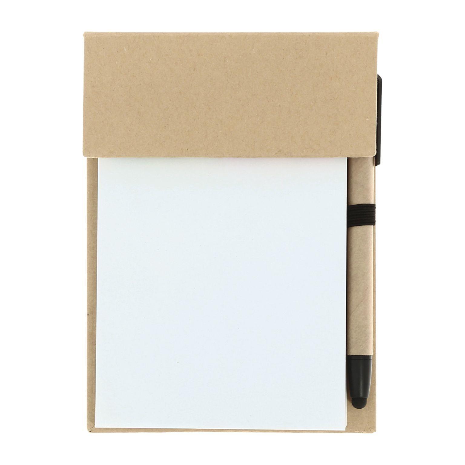 Carnet feuilles + marque-pages adhésifs et stylo bille - Y1806-CT--NA-id1023