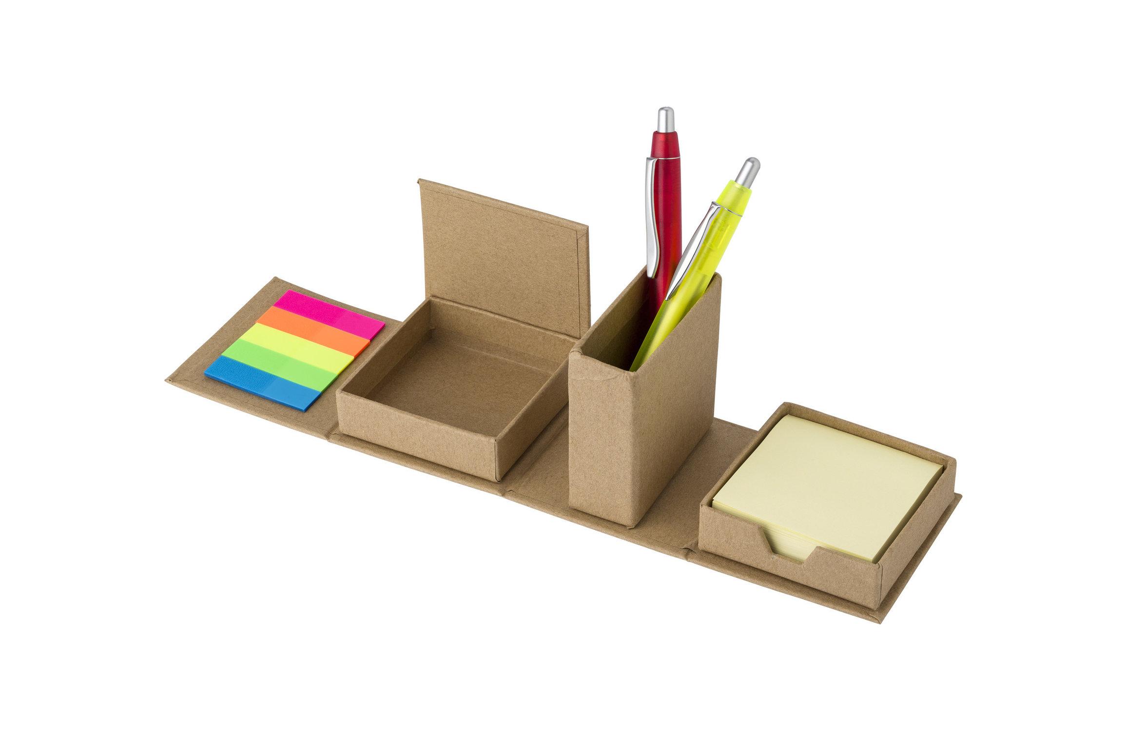 Étui en carton avec papiers repositionnables