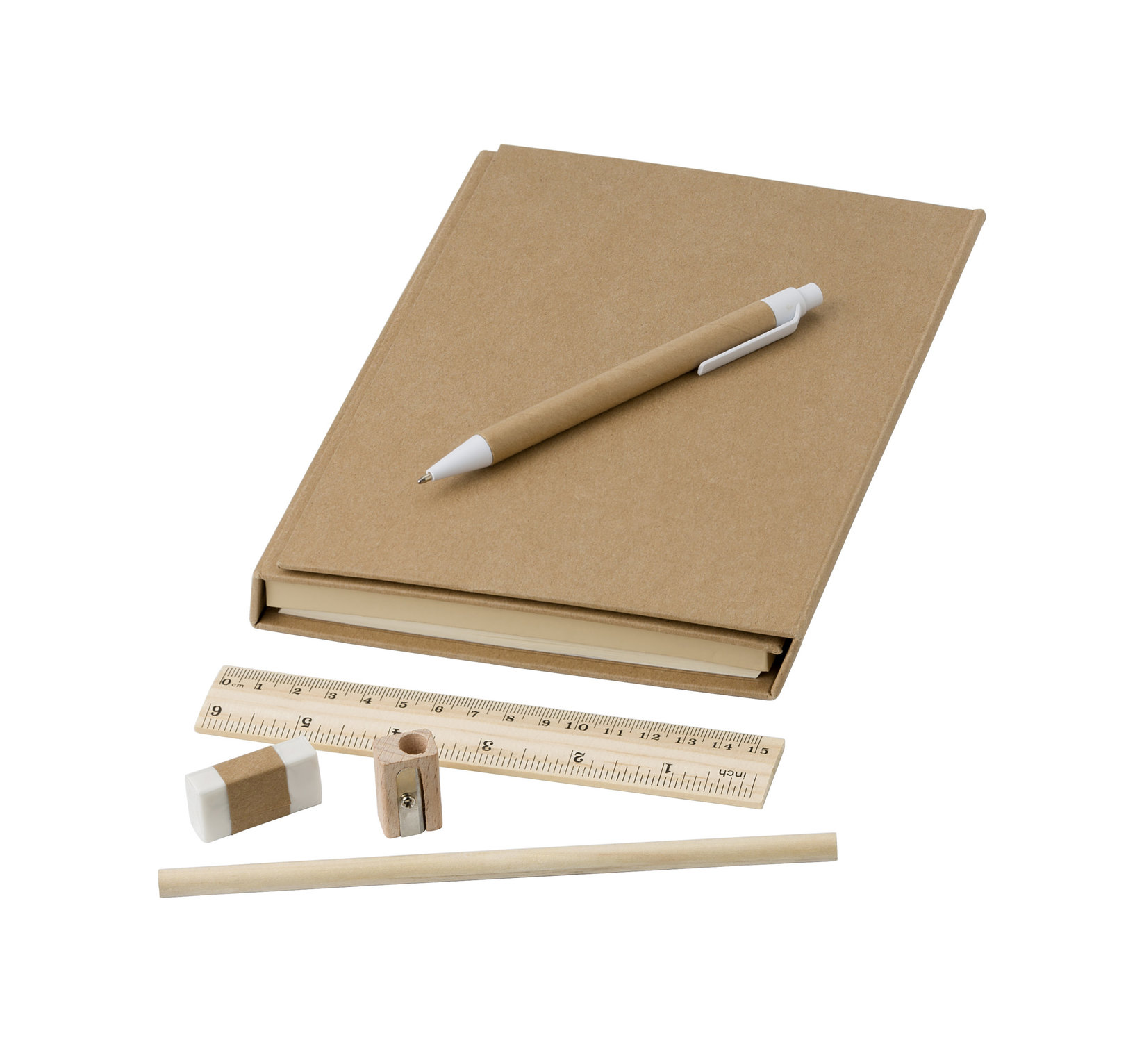 Conférencier en carton avec bloc-notes