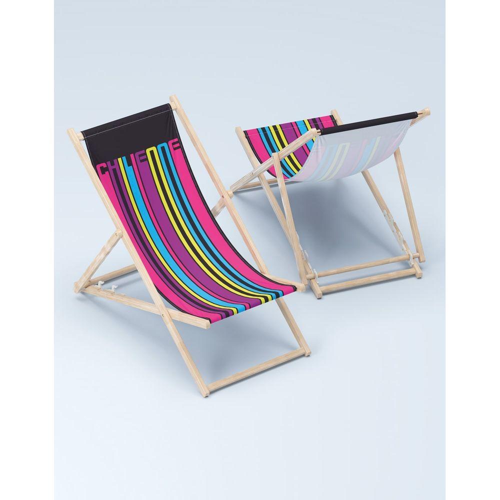Chaise longue personnalisée en bois