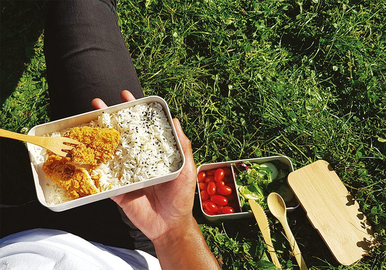 Bento en riz et bambou