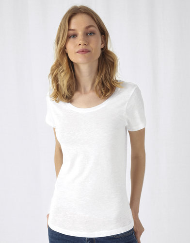 Tee-shirt femme slub