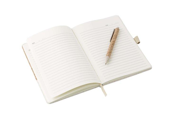 Carnet A5 avec couverture en liège & stylo