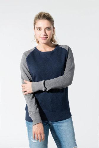 Sweat-shirt bio manches raglan femme