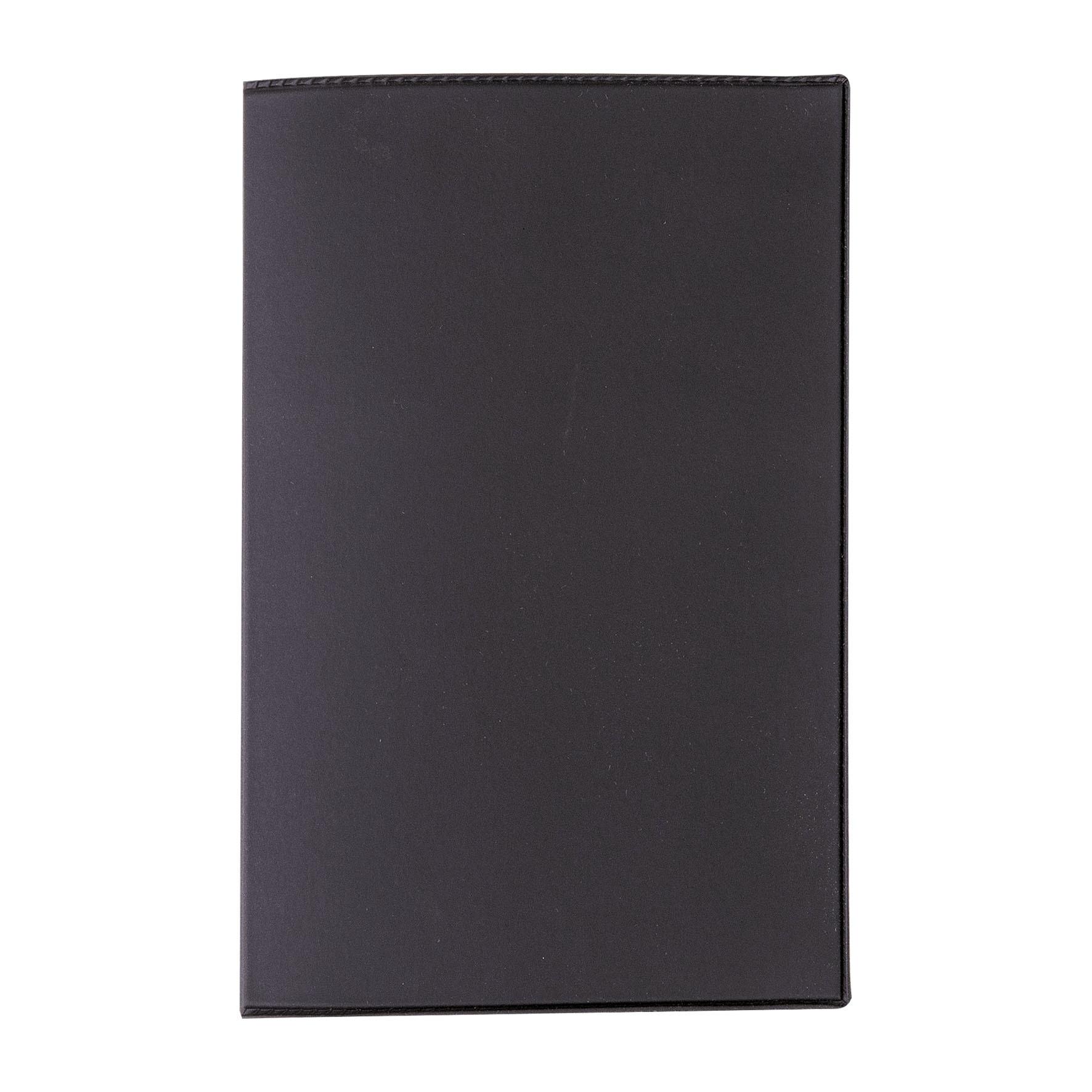 Porte carte grise 3 volets PVC gomme