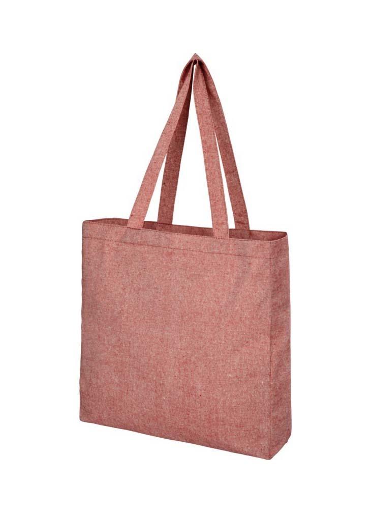 Sac shopping Pheebs recyclé avec soufflet 210g/m²