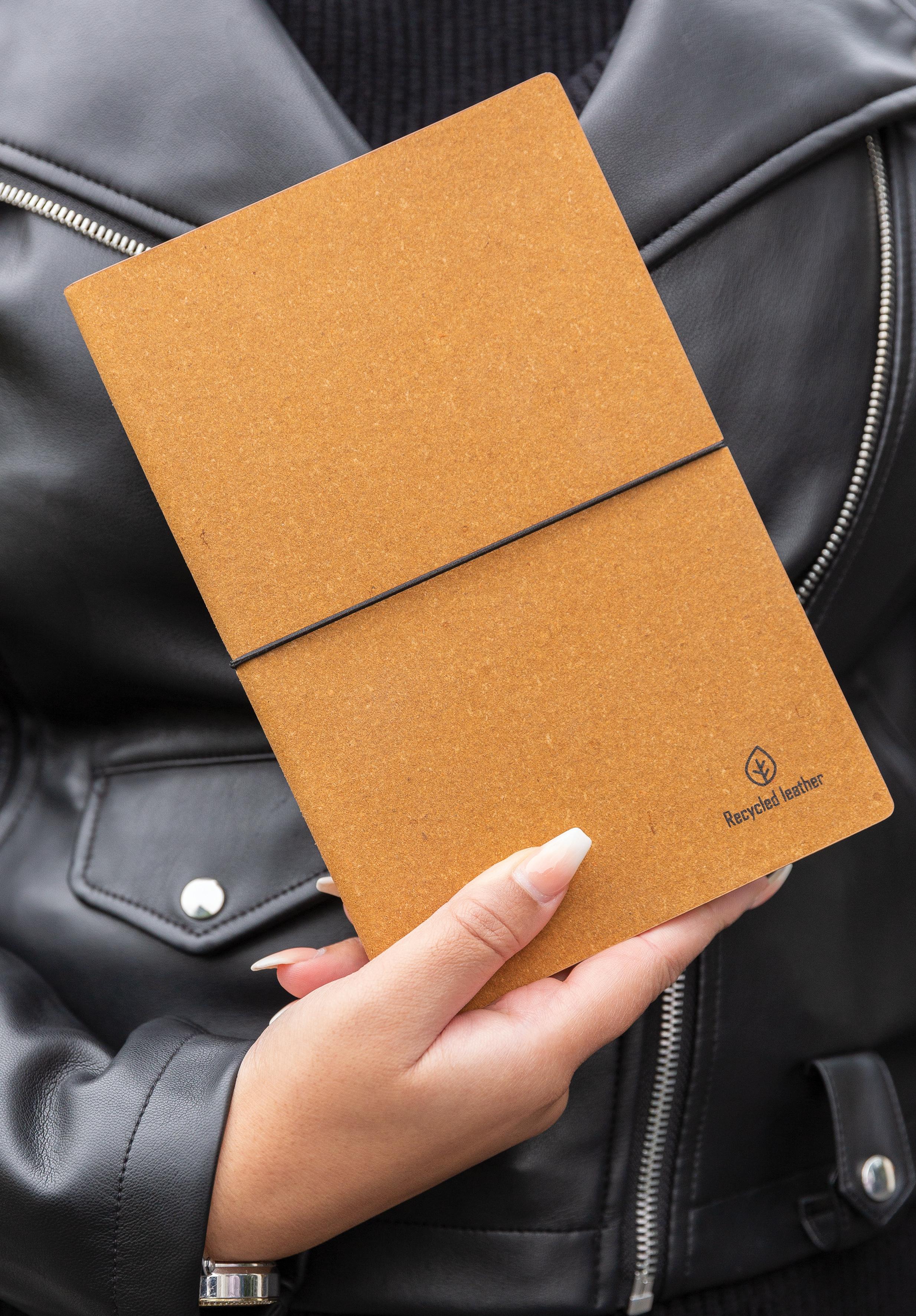Carnet de notes A5 en cuir recyclé